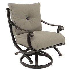 Castelle Telluride Cushioned Swivel Rocker Dining Chair - 2807T