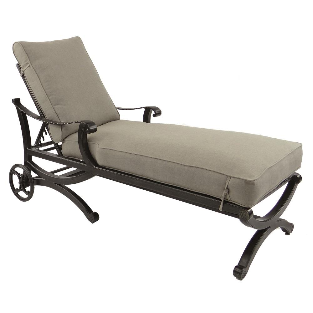 Castelle Telluride Adjustable Cushioned Chaise Lounge with Wheels - 2812T