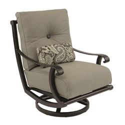 Castelle Telluride High Back Cushioned Lounge Swivel Rocker - 2816T