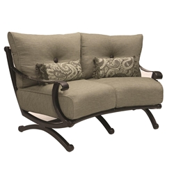 Castelle Telluride Cushioned Crescent Loveseat - 2841T