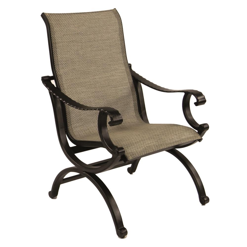 Castelle Telluride Sling Dining Chair - 2866S