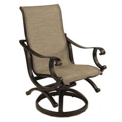 Castelle Telluride Sling Swivel Rocker Dining Chair - 2867S