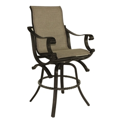 Castelle Telluride High Back Sling Swivel Bar Stool - 2869S