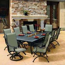 Castelle Telluride Sling Outdoor Dining Set for 10 - CS-TELLURIDE-SET3