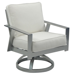 Castelle Trento Cushioned Swivel Rocker Dining Chair - 3137T