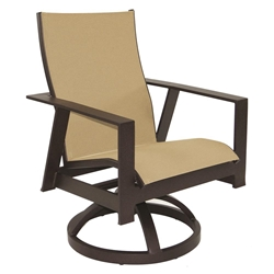 Castelle Trento Sling Swivel Rocker Dining Chair - 3178S