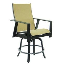 Castelle Trento High Back Sling Swivel Counter Stool - 3179MS