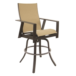 Castelle Trento High Back Sling Swivel Bar Stool - 3179S