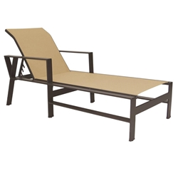 Castelle Trento Adjustable Sling Chaise Lounge - 3192S