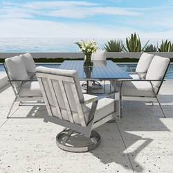 Castelle Trento Cushion Outdoor Dining Set for 6 - CS-TRENTO-SET2