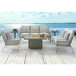 Castelle Trento Cushion Modern Outdoor Furniture Set - CS-TRENTO-SET3