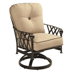Castelle Veranda Cushioned Swivel Rocker Dining Chair - 4307T