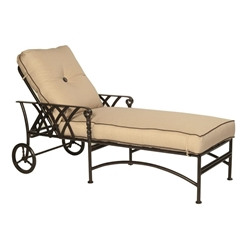 Castelle Veranda Adjustable Cushioned Chaise Lounge with Wheels - 4312T