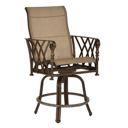 Castelle Veranda High Back Sling Swivel Counter Stool - 4339MS