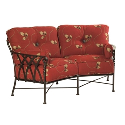 Castelle Veranda Cushioned Crescent Loveseat  - 4341T