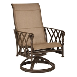 Castelle Veranda Sling Swivel Rocker Dining Chair - 4337S