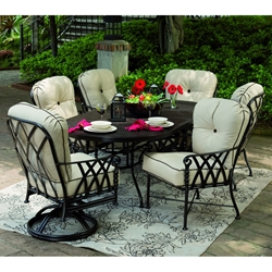 Castelle Veranda Cushioned Patio Dining Set for 6 - CS-VERANDA-SET1
