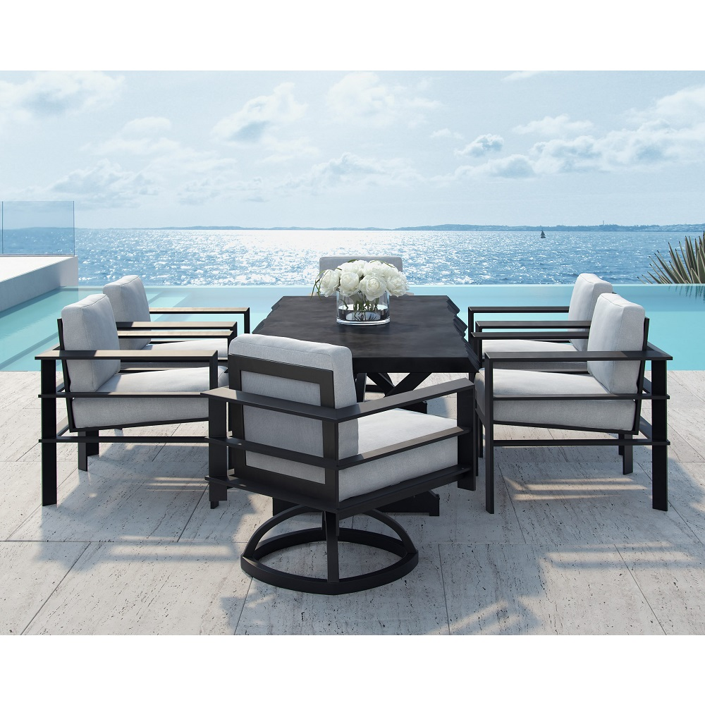 Castelle Vertice Cushion Outdoor Dining Set for 6 - CS-VERTICE-SET1