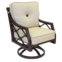 Castelle Villa Bianca Cushioned Swivel Rocker Dining Chair - 1107T