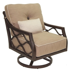 Castelle Villa Bianca Cushioned Lounge Swivel Rocker - 1115T