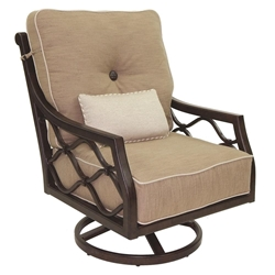 Castelle Villa Bianca High Back Cushioned Lounge Swivel Rocker - 1116T