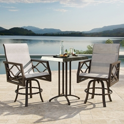 Castelle Villa Bianca Counter Height Outdoor Set with Swivel Stools - CS-VILLABIANCA-SET3