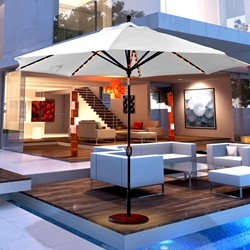 Galtech Aluminum 11 Foot Octagon Umbrella with LED Light and Auto Tilt - 986
