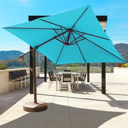 Galtech Aluminum 10 Foot x 10 Foot Cantilever Umbrella with Easy Lift - 897