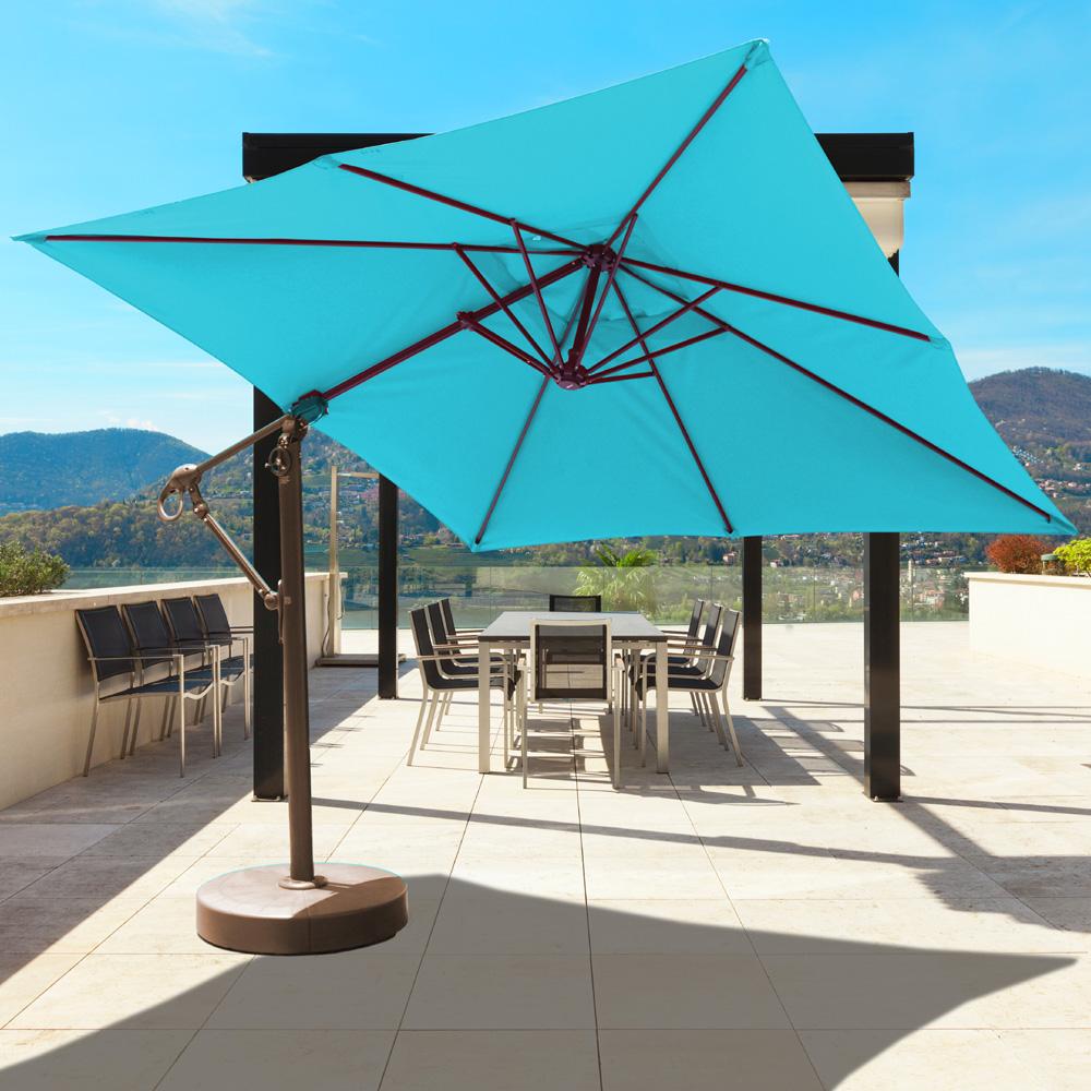 Galtech Aluminum 10 X 10 Square Cantilever Umbrella With