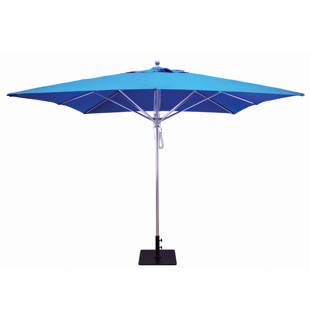 Galtech Aluminum 10 X 10 Square Commercial Umbrella With