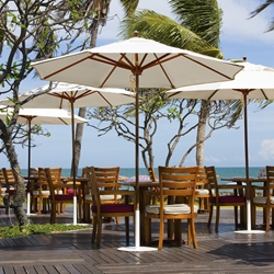 Galtech Teak Patio Umbrellas