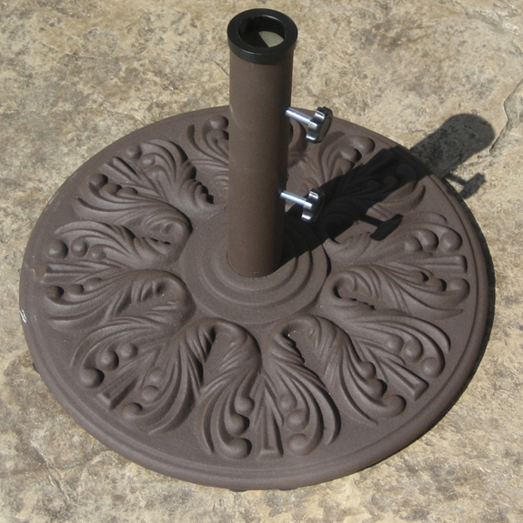 Galtech 18 Inch Round Cast Iron Umbrella Base with 40 LBS. Weight - 040ED