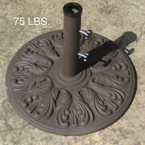Galtech 24 Inch Round Cast Iron Umbrella Base with 75 LBS. Weight - 0750ED