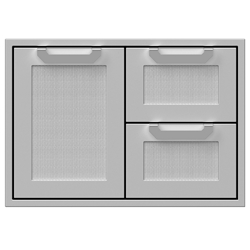 "30"" Double Drawer and Storage Door"