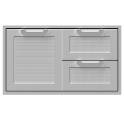 "36"" Double Drawer and Storage Door"