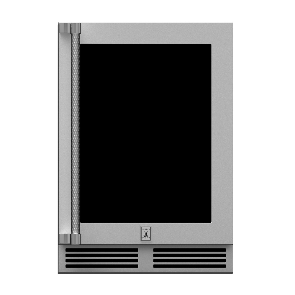 "24"" Outdoor Dual Zone Refrigerator with Glass Door"
