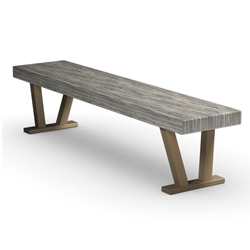 Homecrest Atlas 15 inch by 70 inch Rectangular Bench - 151570