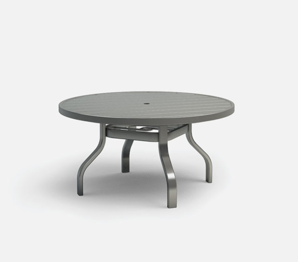 Homecrest Breeze 42 Inch Round Chat Table with Umbrella Hole - 3042RC