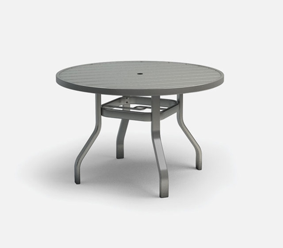Homecrest Breeze 42 Inch Round Dining Table with Umbrella Hole - 3042RD