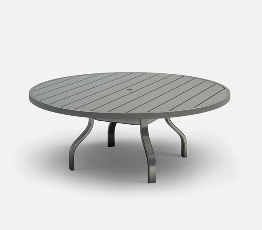 Homecrest Breeze 54 Inch Chat Table With Umbrella Hole 3054rc