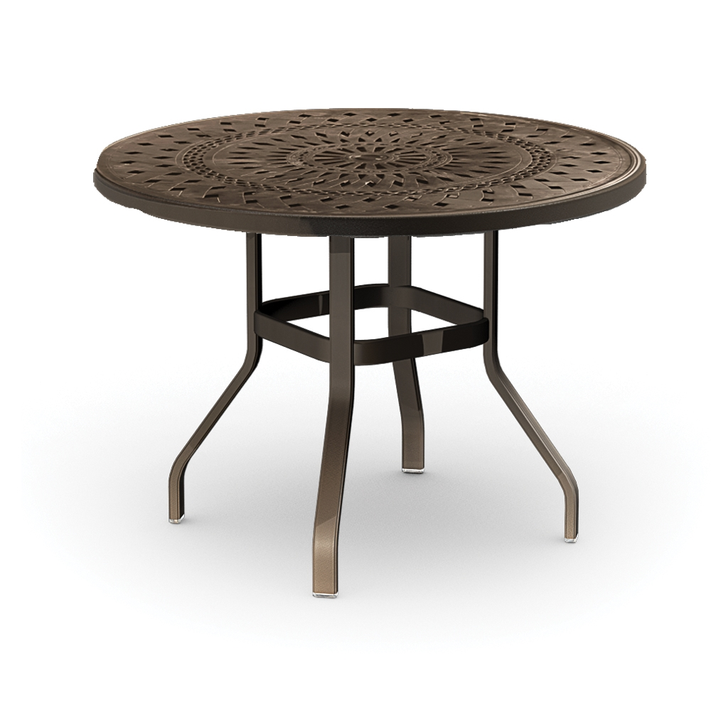 Homecrest Camden Cast 54 inch Round Balcony Table - 1454RB