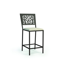 Homecrest Echo Armless Balcony Stool with Seat Cushion - 9458P