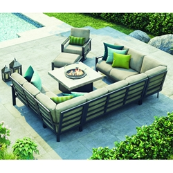 Homecrest Elements Big Modular Patio Sectional with Fire Table - HC-ELEMENTS-SET11