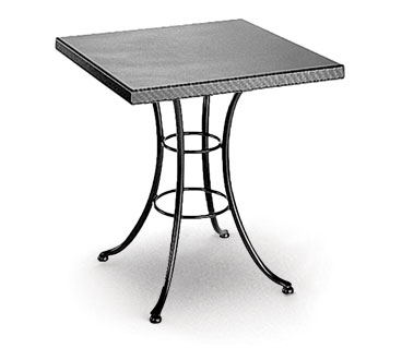 Homecrest Embossed 36 Inch Square Cafe Table w/ Steel Base - 19215