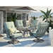 Homecrest Emory Cushion High Back Swivel Rocker Outdoor Chat Set - HC-EMORY-SET3