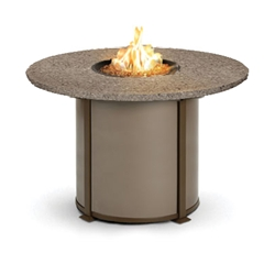 Homecrest Valero Natural 48 to 54 inch round Balcony Fire Pit Table - 4654BSG