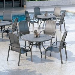 Homecrest Florida Mesh 5 Piece Patio Dining Set - HC-FLORIDAMESH-SET1