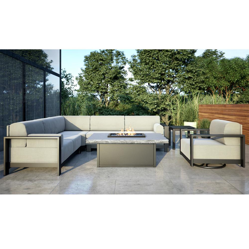 Cushion Modern Patio Sectional Set