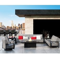 Homecrest Grace Air Modular Patio Set with Mode Fire Table - HC-GRACEAIR-SET1