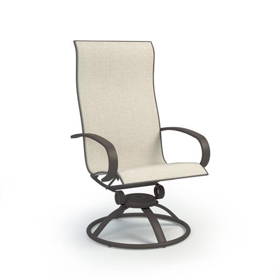 Homecrest Harbor Sling High Back Swivel, Patio Furniture Swivel Rocker Chairs